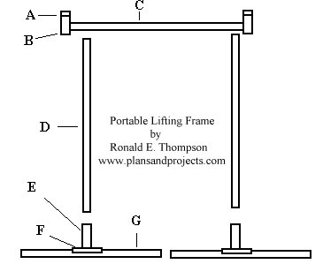 A Frame Hoist Plans http://www.plansandprojects.com/portable.htm