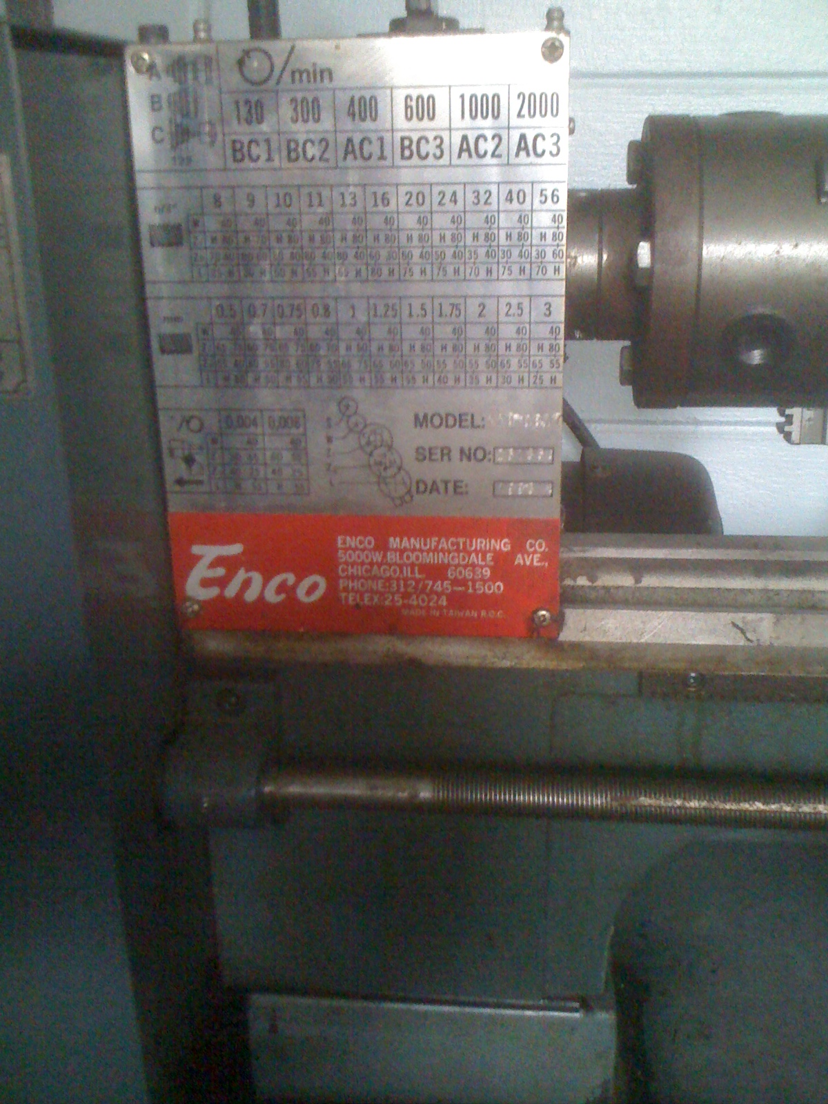 Magnificent New To Me Enco 9 X 20 Lathe Caraccident5 Cool Chair Designs And Ideas Caraccident5Info